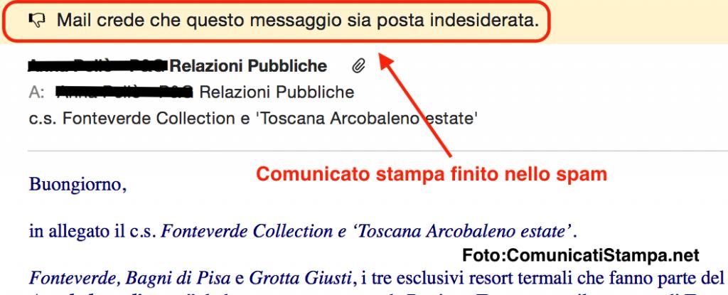 Comunicati stampa spam