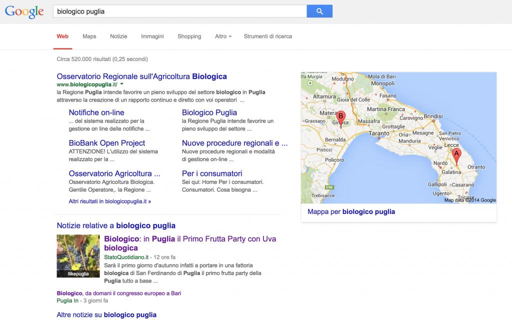 Biologico Puglia - 2a Posizione su Google