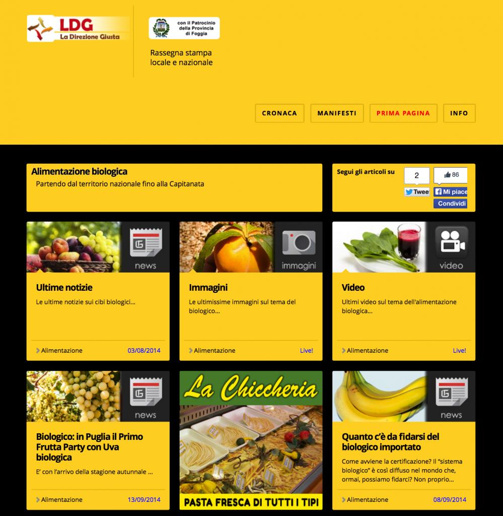 Pubblicazione notizia su testata specialistica online