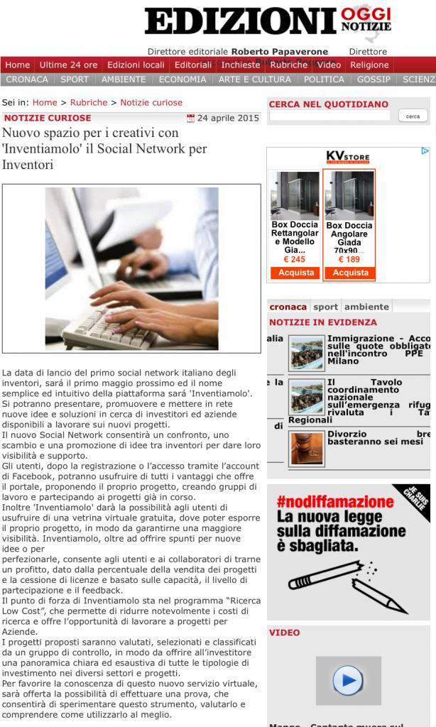 pubblicizzare sito internet comunicati stampa