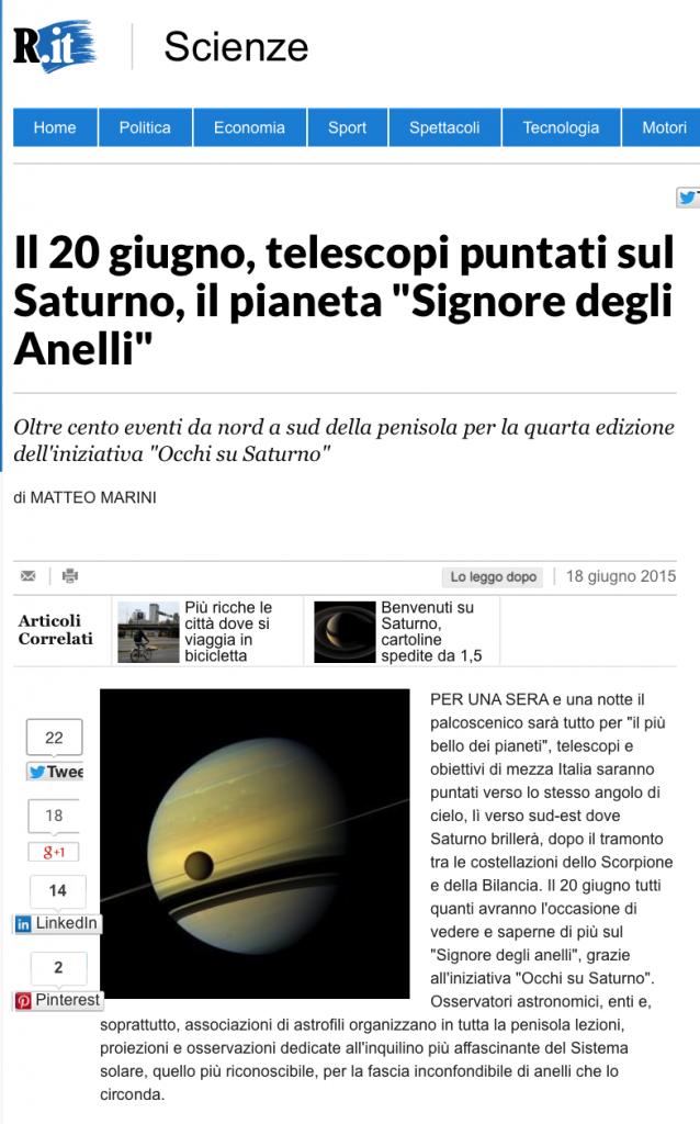 Promuovere un evento con l'invio di un comunicato stampa a Repubblica