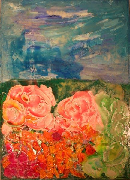 """La De Maira concepisce l'arte come espressione interiore di ogni individuo e spiega """"È il pensiero, che si fa colore, sono le emozioni, che prendono forma""""."""
