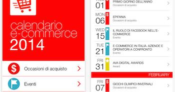 App calendario ecommerce