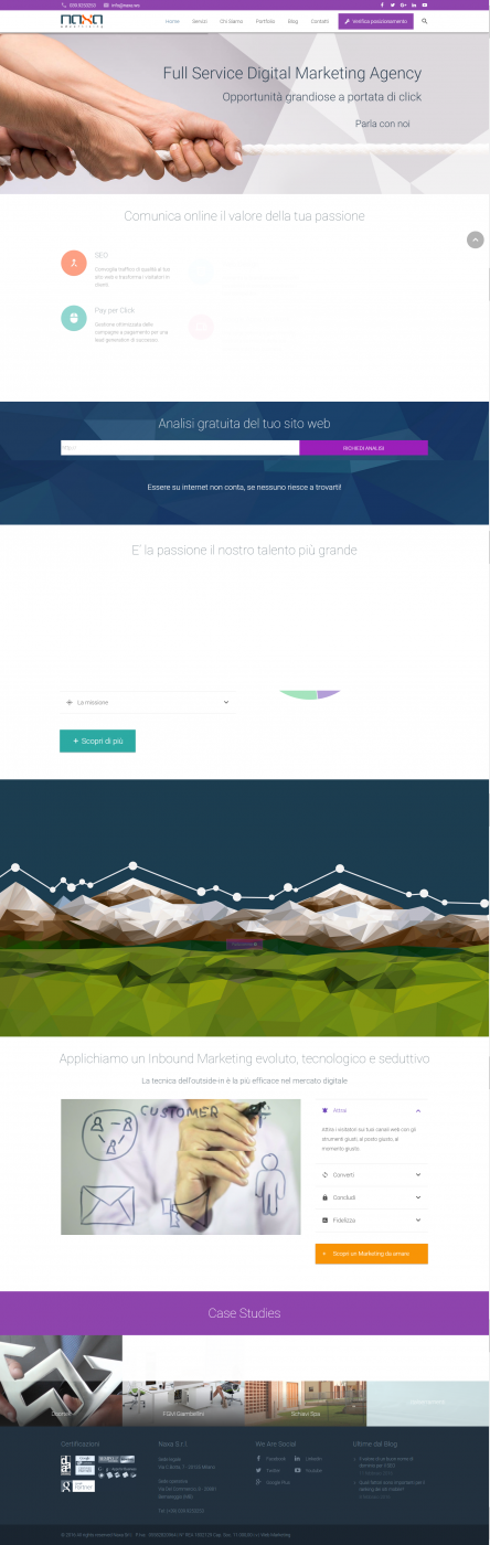 Promozione sito web, SEO Agency NAXA