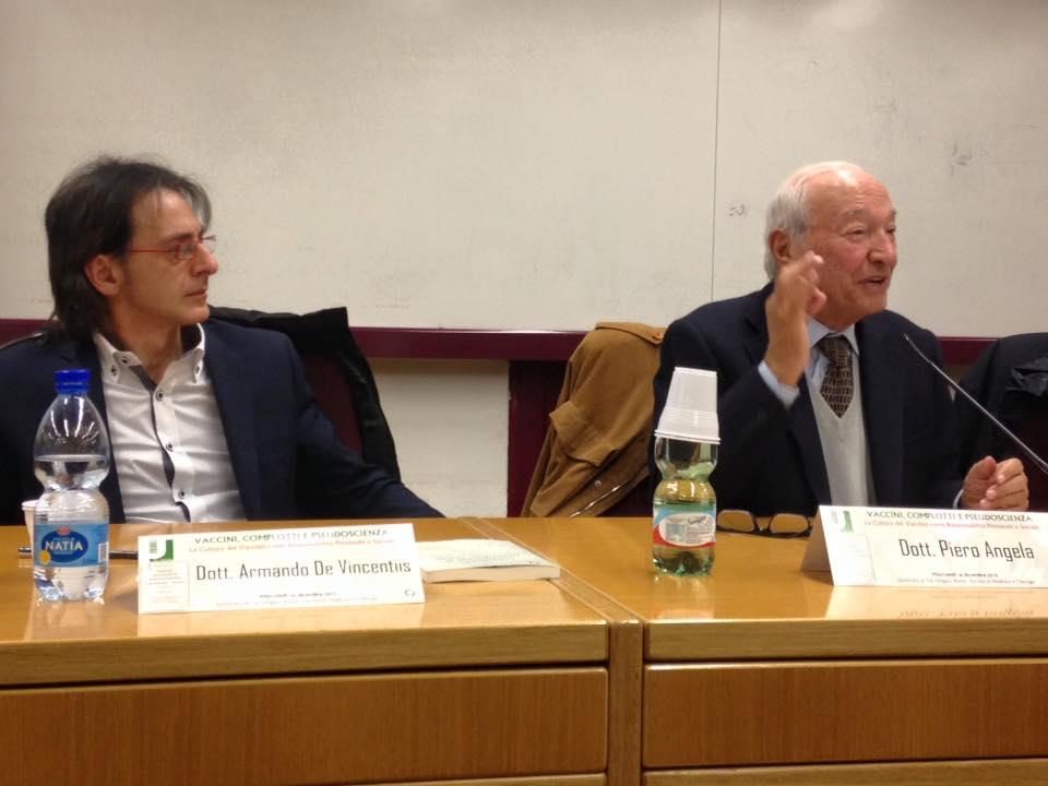 Piero Angela con Armando De Vincentiis