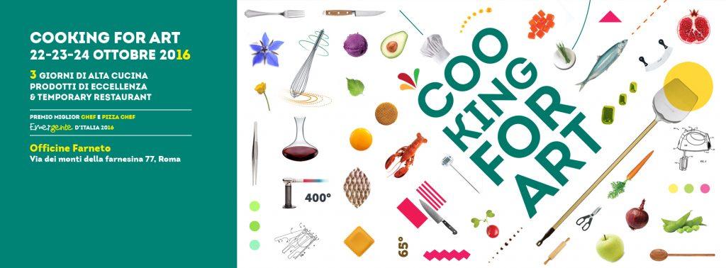 """Cooking For Art"""" (22-24 ottobre 2016) quest'anno torna alle origini del suo nome, riallacciando il suo legame con l'arte"""