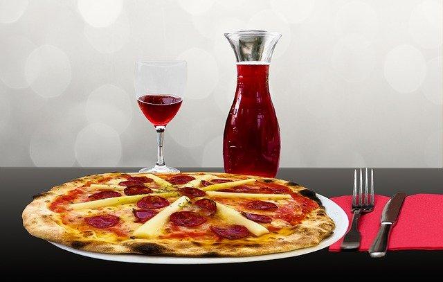 ristorante, pizza, piatto