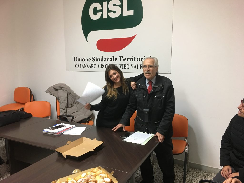 L'Avvocato Laura Gualberto e il Prof. Mimmo Fratto della CISL Scuola Catanzaro