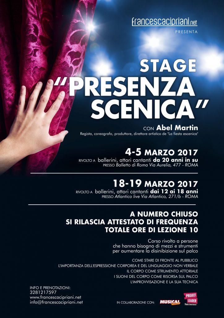 stage presenza scenica