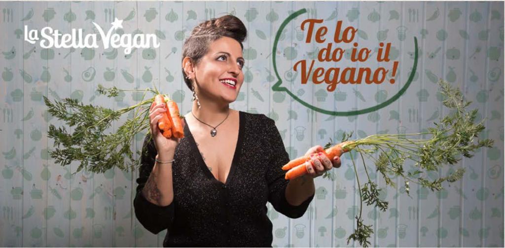 """Antonella """"La Stella Vegan"""", autrice del libro  """"Te lo do io il Vegano"""", libro di ricette vegetali con piatti vegetariani e vegani gustosi e facili da preparare"""