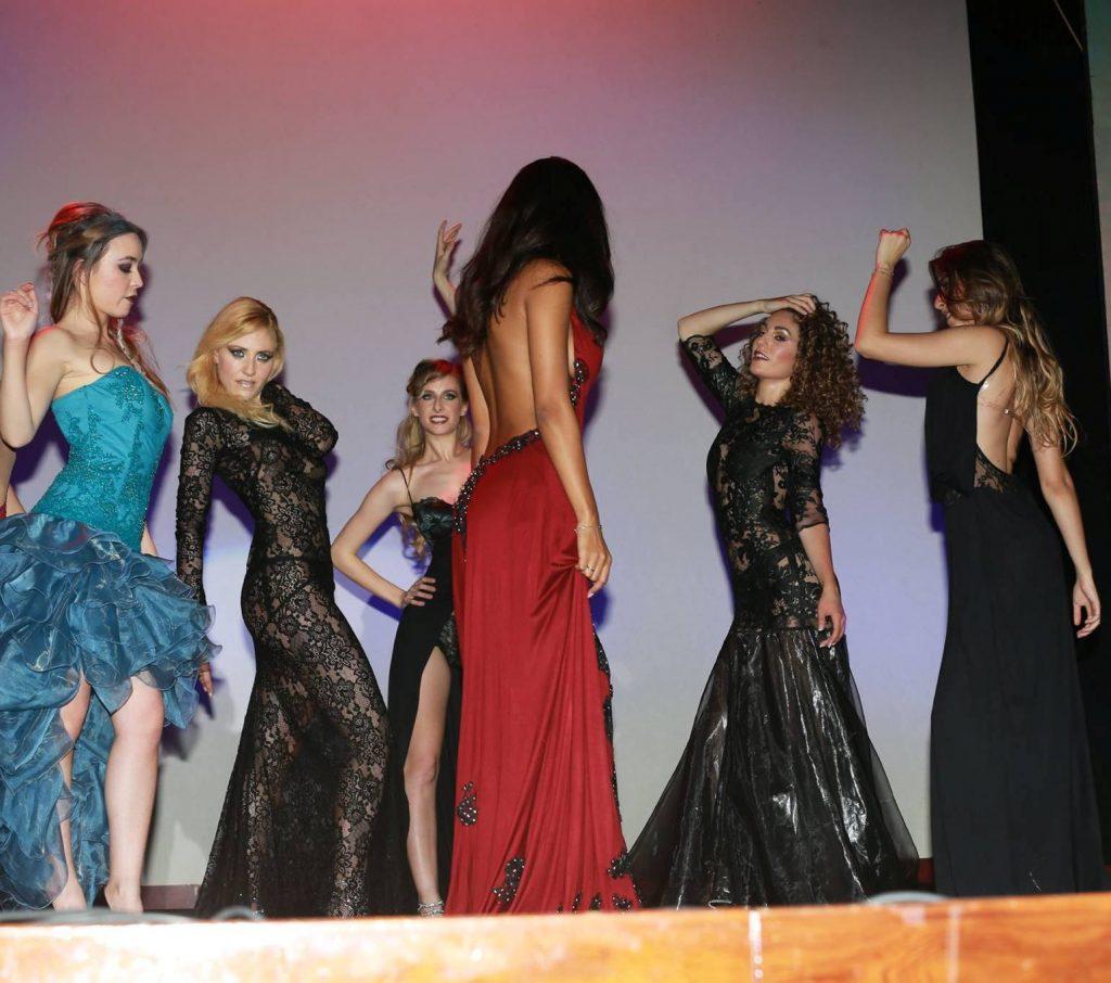 Le modelle del Fashion Show dello stilista Emilio Ricci