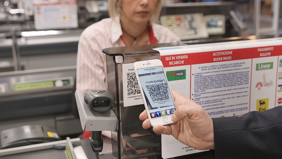 Da oggi nei supermercati ed ipermercati COOP della Liguria e basso Piemonte si paga con l'App via cellulare