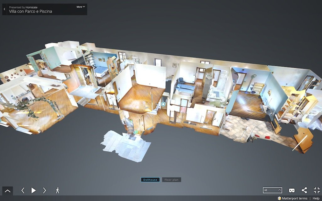 Visita virtuale di una villa con effetto Doll House, Casa delle Bambole by Homstate.it