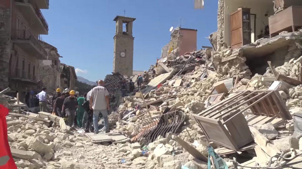 Amatrice dopo il terremoto del 2016