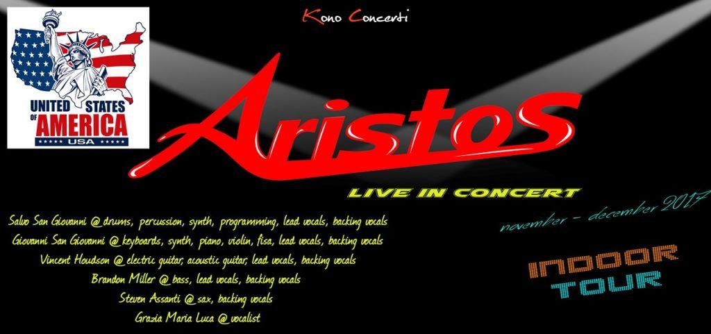 Aristos, la band italiana in tour negli USA e Inghilterra