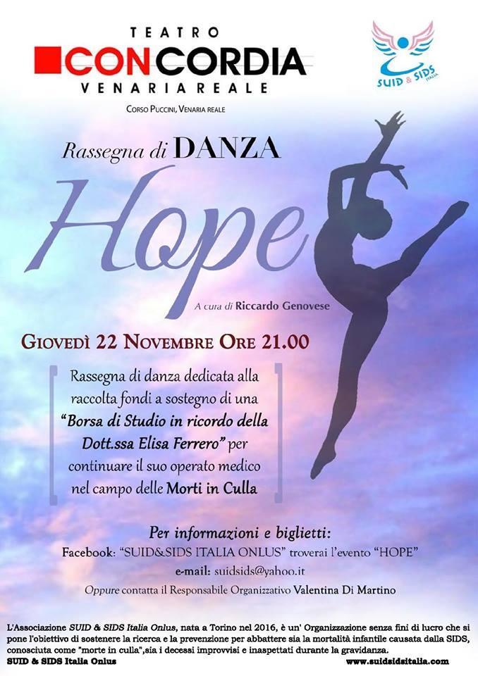 Hope, spettacolo danza prevenzione morti in culla