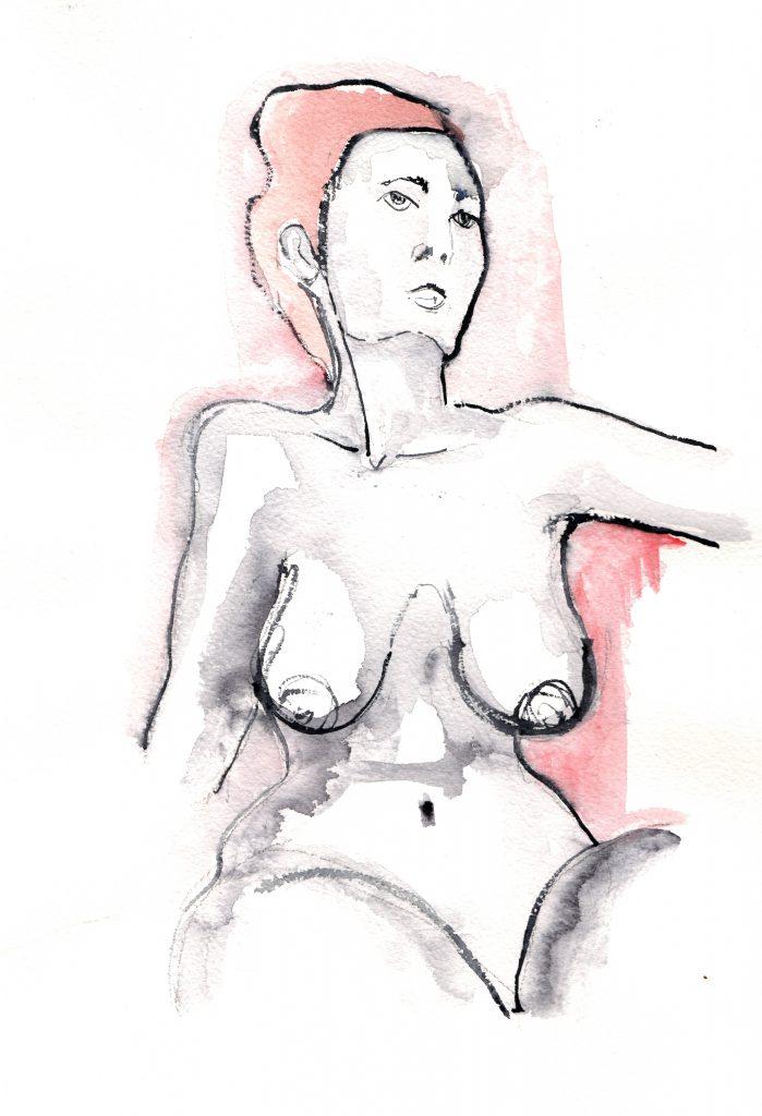 Kaiser, nudo femminile ad acquerello di Matteo Fieno