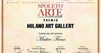 PREMIO MILANO ART GALLERY A MATTEO FIENO