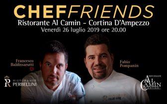 """A Cortina arriva """"Chef Friends"""", cena esclusiva a 4 mani con gli Chef Pompanin e Baldissarutti"""