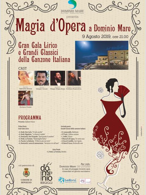 Al via a Bergeggi il Gran Gala Lirico e Grandi Classici della Canzone Italiana