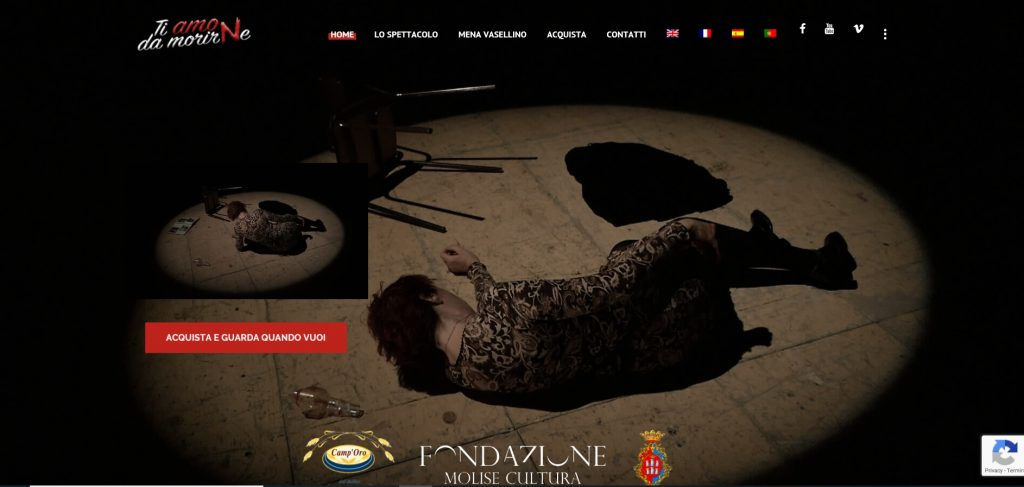 Violenza sulle donne: arriva lo spettacolo teatrale online su www.tiamodamorirne.com
