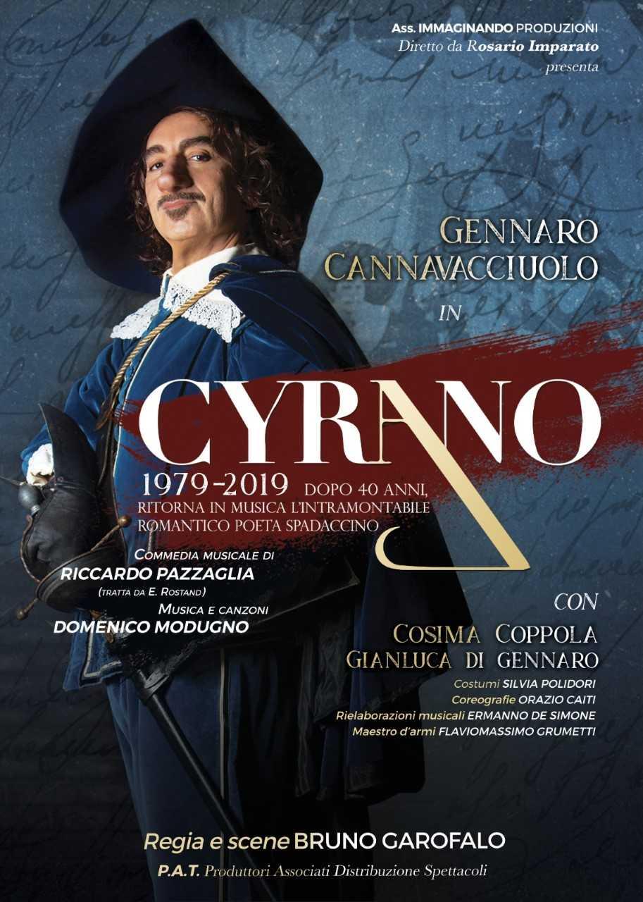 """A teatro dopo 40 anni ritorna l'atteso musical """"Cyrano""""di Domenico Modugno"""