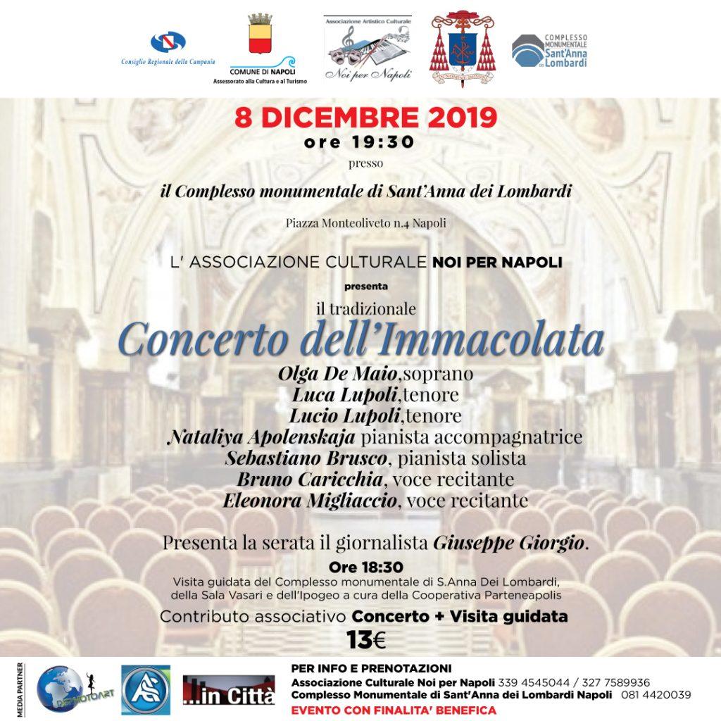 Ritorna a Napoli il Concerto dell'Immacolata