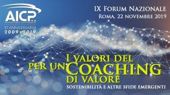 """Al via il Forum Nazionale dei Coach: """"I valori del coaching per un coaching di valore"""" il titolo dell'evento"""