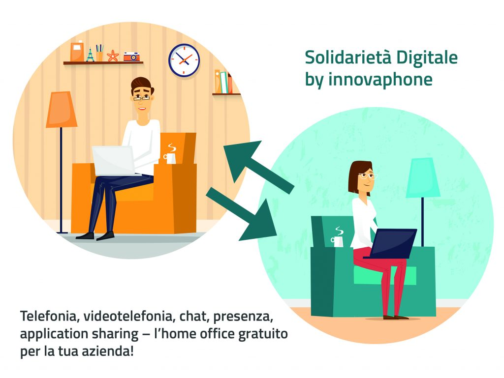 Solidarietà Digitale per il Coronavirus: gratis per 3 mesi la piattaforma innovaphone
