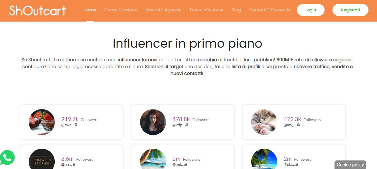Al via Shoutcart.it, la nuova piattaforma dell'influencer marketing