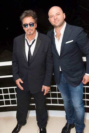 Antonio De Martino Venezia in compagnia di Al Pacino
