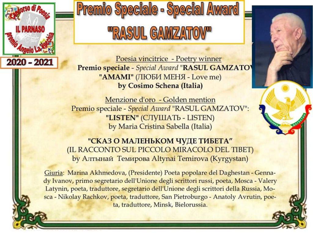 premio di poesia Rasul Gazmatov