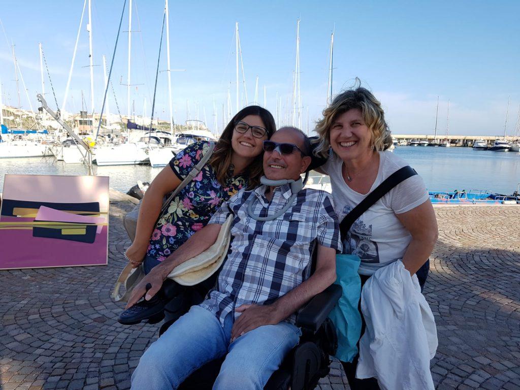 Luca Ruggeri con la moglie Lucia e la figlia Marina